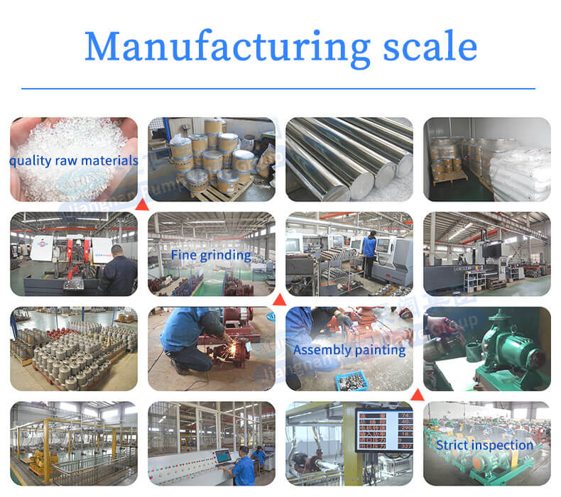 ahjn pump Manufacturing process